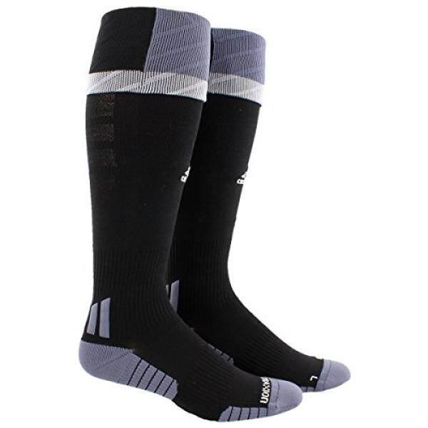 adidas Adult Traxion Premier Soccer Socks, Black/Onix/Light Onix, Large - intl