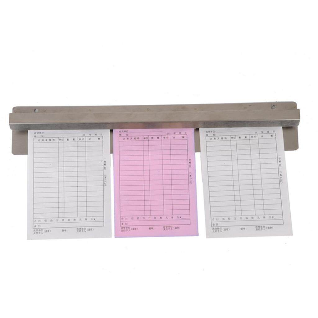 Miracle Shining 18 paper rail ticket tab grabber bar cafe order holder bar bill letter grip
