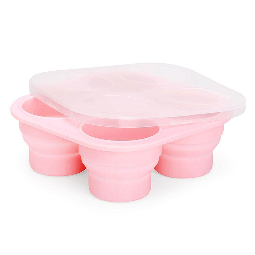 Pawaca Collapsible Silicone Baby Food Freezer Containers Trays And Ice Cube Trays With Lids For Instant Pot Accessories Microwave Oven Refrigerator