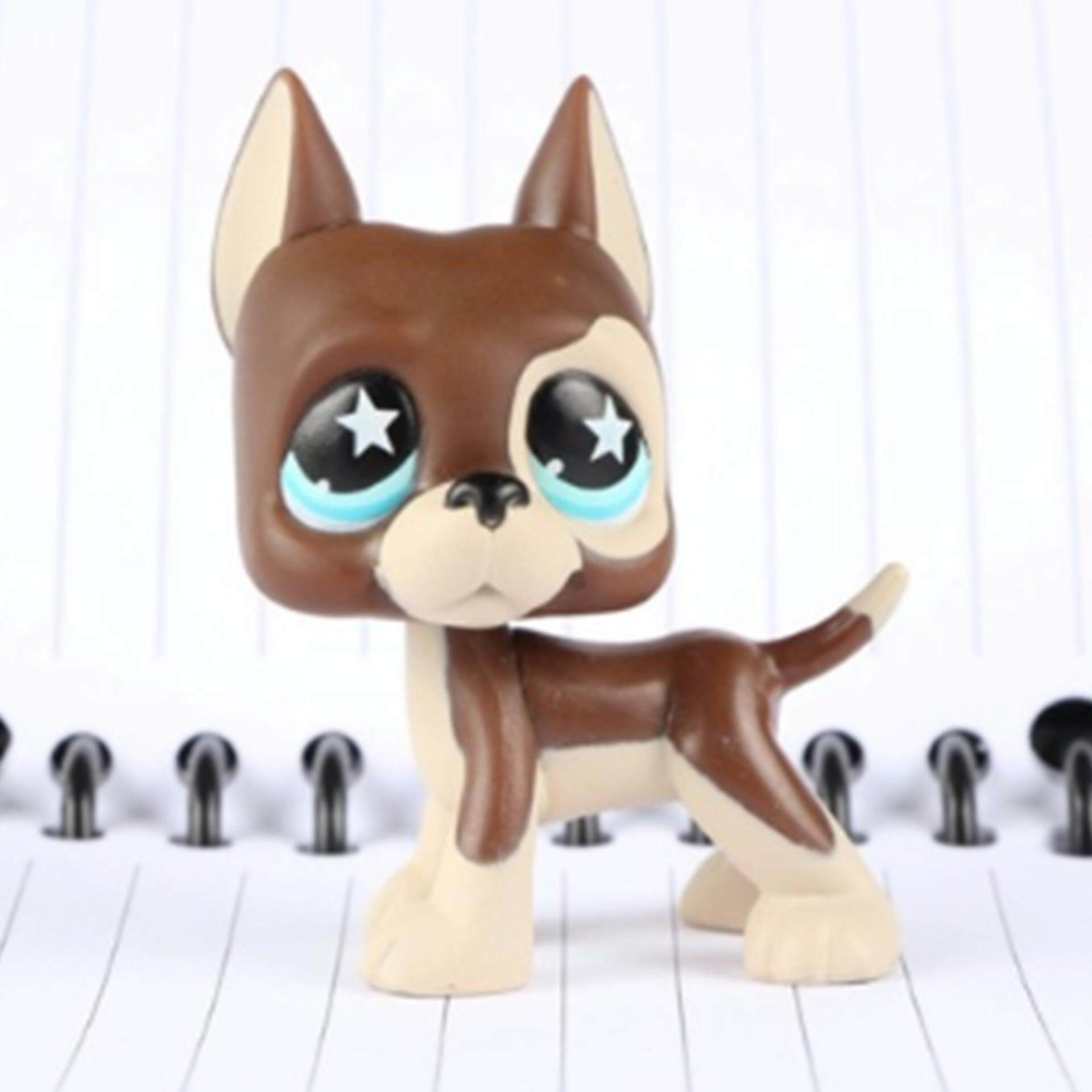 Original 1pc LPS cute toys Lovely Pet shop animal Chocolate Chihuahua Dog Blue eyes action figure