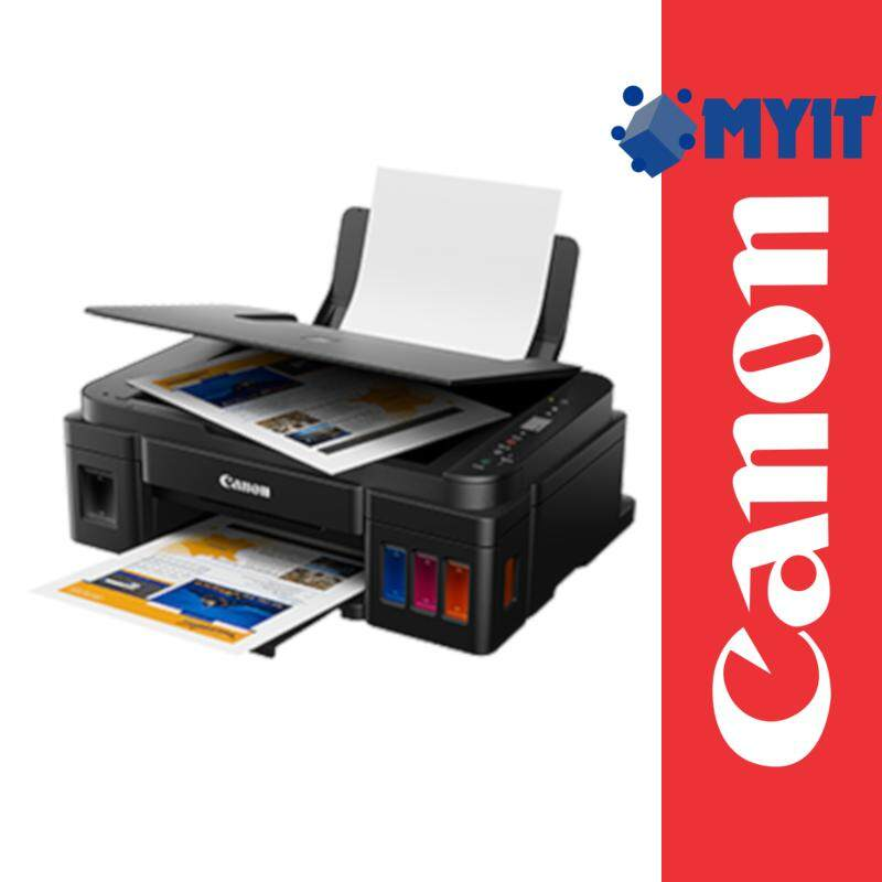 Canon Pixma G2010 AIO Inkjet Printer A4 Borderless Printing with Refill Ink Tank System (Print / Scan / Copy, 2 Years Warranty)