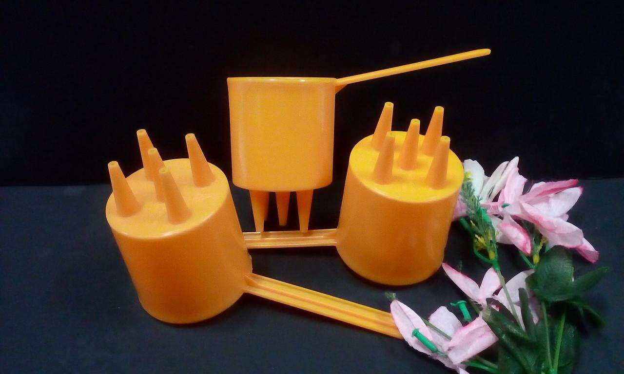 3 pieces Cup Dispenser for Roti Jala maker.same day ship.(Yellow)