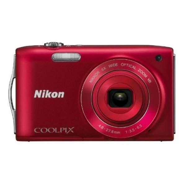 Nikon Coolpix S3300 16 Kamera Digital MP dengan 6x Zoom Nikkor Lensa Kaca dan 2.7-Inch LCD (Merah)