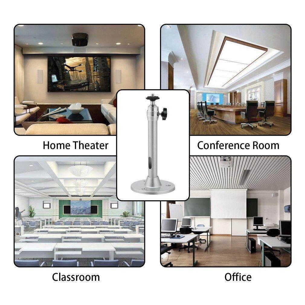 Portable Aluminium Alloy 360° Swivel Wall Ceiling Mini Projector Bracket