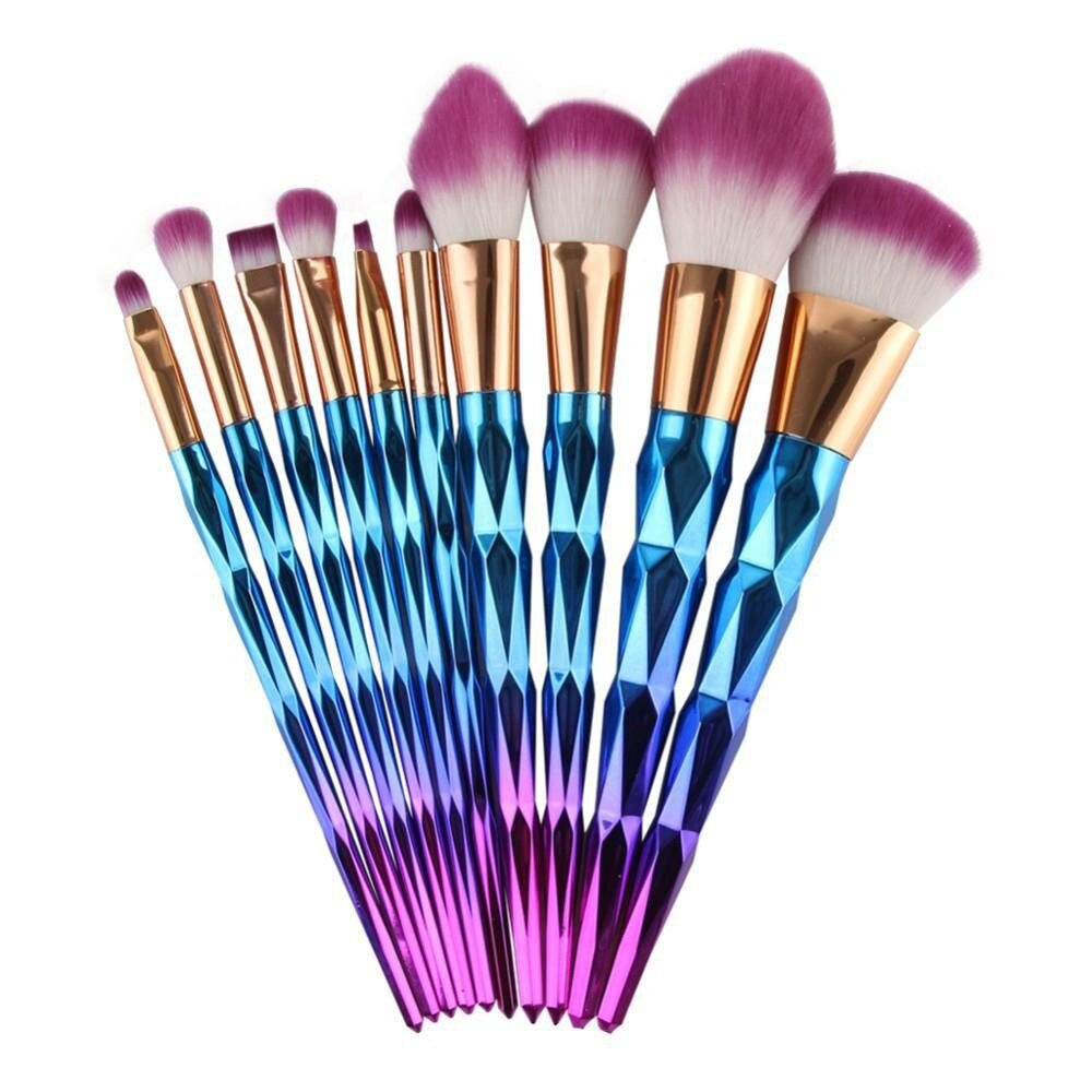 Fulfills all daily basic makeup requirements. Brushes are made of quality natural and synthetic fiber for lasting performance color:as the picture shows