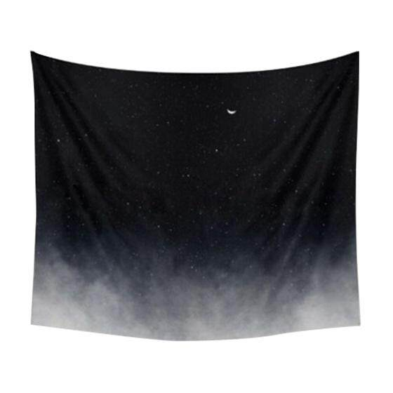 130x150cm Tapestry Home Decorative Night moon stars Pattern Beach Towel Fashion Sofa Wall Decor - intl