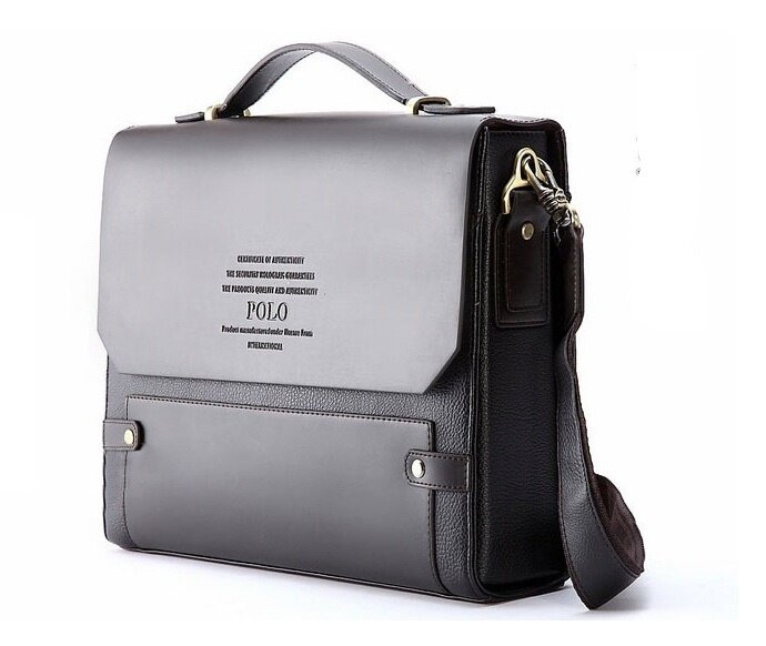 Videng POLO Newest Men Genuine Leather Blocking Secure Briefcase ... c19aa15fb8