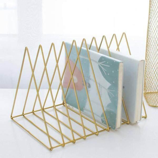 leegoal Nordic Simple Metal Triangle Wrought Iron Desktop Shelf Storage Rack(26x18.2x18.5cm)