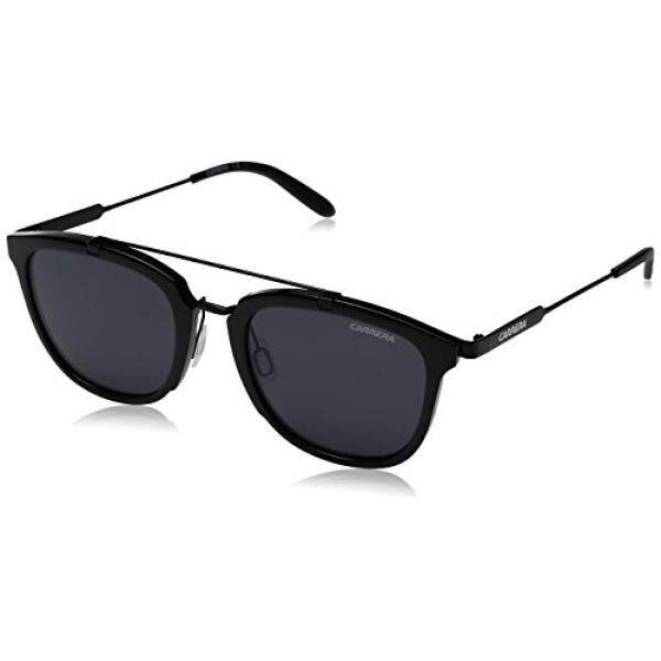 c04ea74e176b Carrera Mens Ca127s Square Sunglasses, Shiny Black Matte Black/Gray Blue,  51 mm