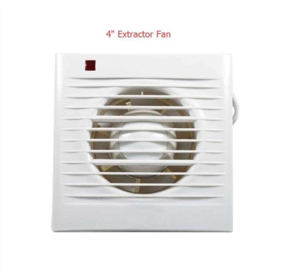 Walfront 1pcs 220v Exhaust Extractor Fan Bathroom Toilet Window Wall Mounted Grille Air Vent White Ventilating