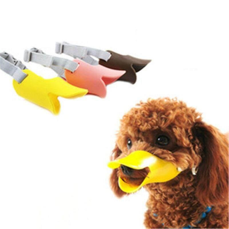 Moncong Anjing Silikon Lucu Bebek Mulut Masker Moncong Penghenti Gigitan Gonggongan Anjing Anti Masker Anti-