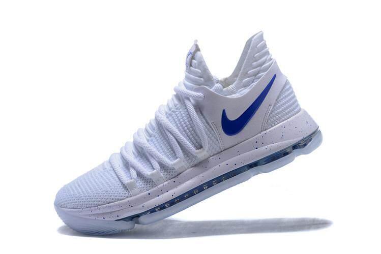 buy popular cebbd 0a817 Nike อย่างเป็นทางการเควินดูรัน 10 ผู้ชาย KD Blue สีส้มบาส