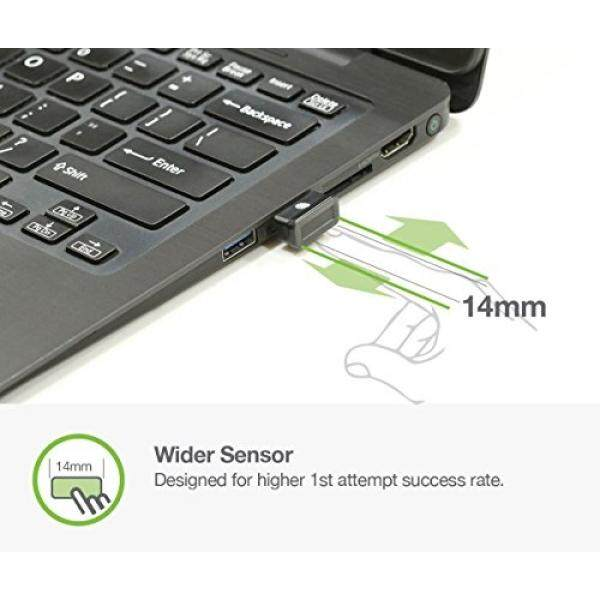 Idem FCC BioScan Compact USB Fingerprint Scanner for Fast Win10 Sign-in w/ Wide Sensor for Superb 1st Attempt Recognition, Anti-spoofing Protection, 360°Finger Readability, Multi Fingerprints Support - intl