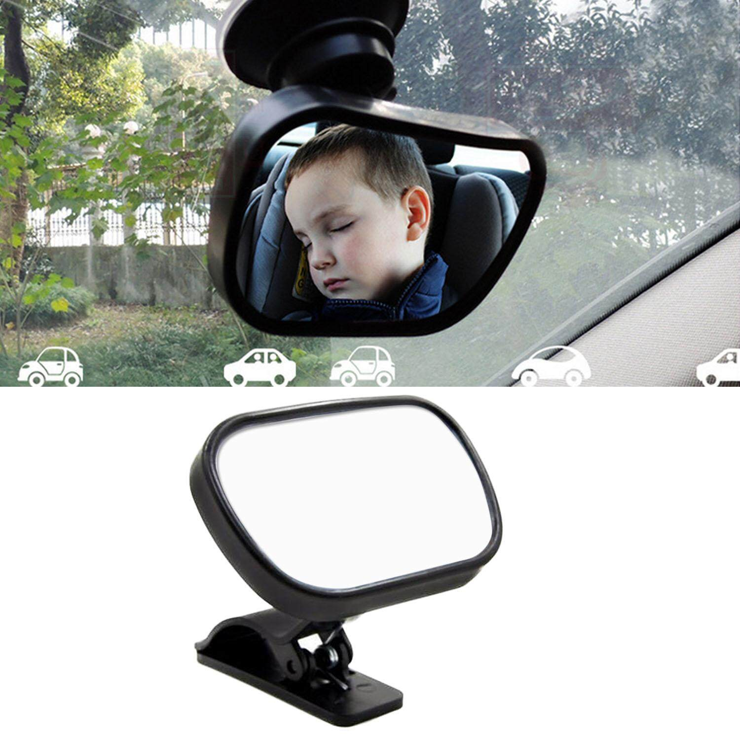 360 Degree Adjustable Baby Child Rear View Mirror Car Rearview Mirror With Suction Cup And Clip For Children Backseat Without Distracting From Driving (black) - Intl By Stoneky.