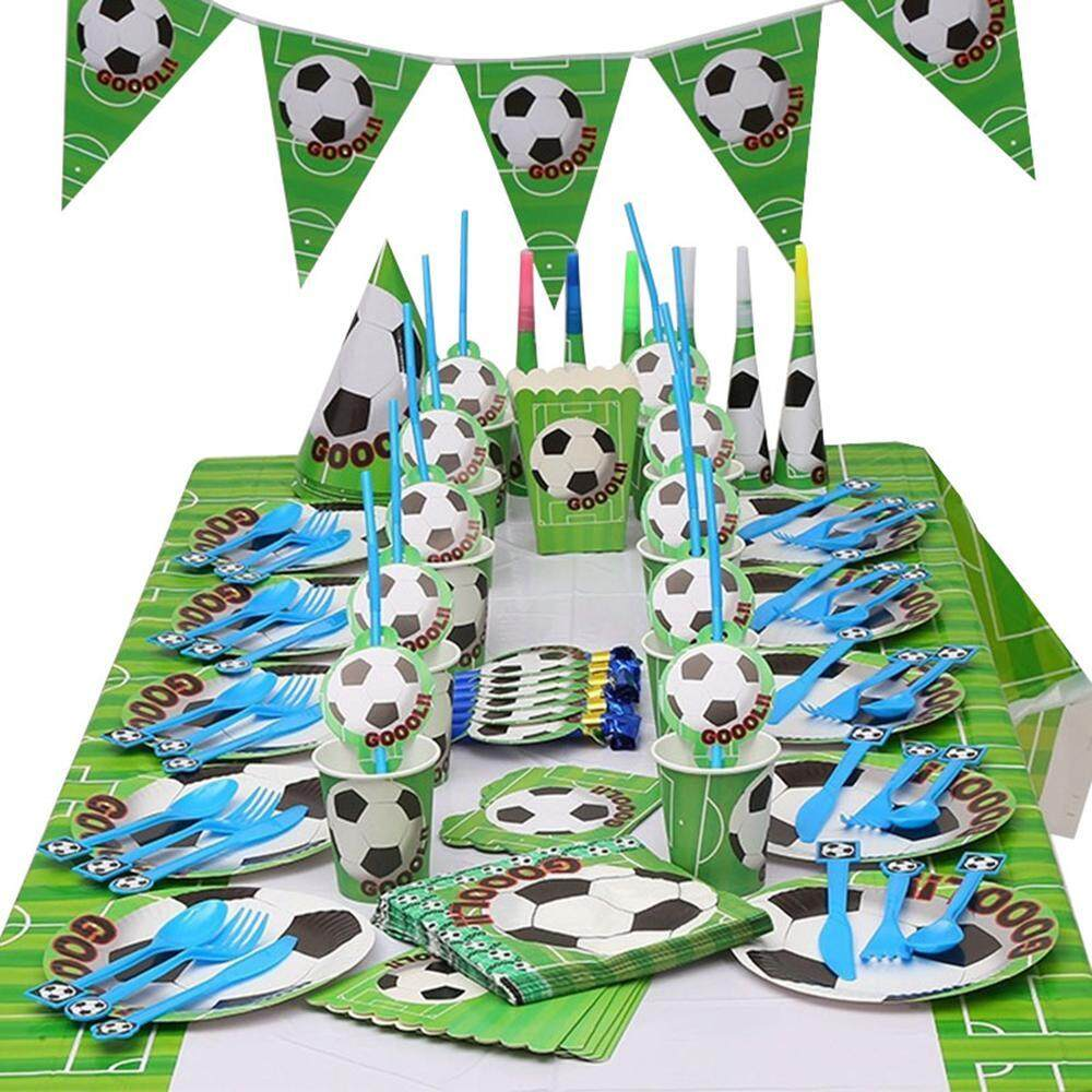 Party Packs Sets Buy At Best Price In Animal Pack Womdee Soccer Supplies Sports Themed Childrens Birthday Supply Set