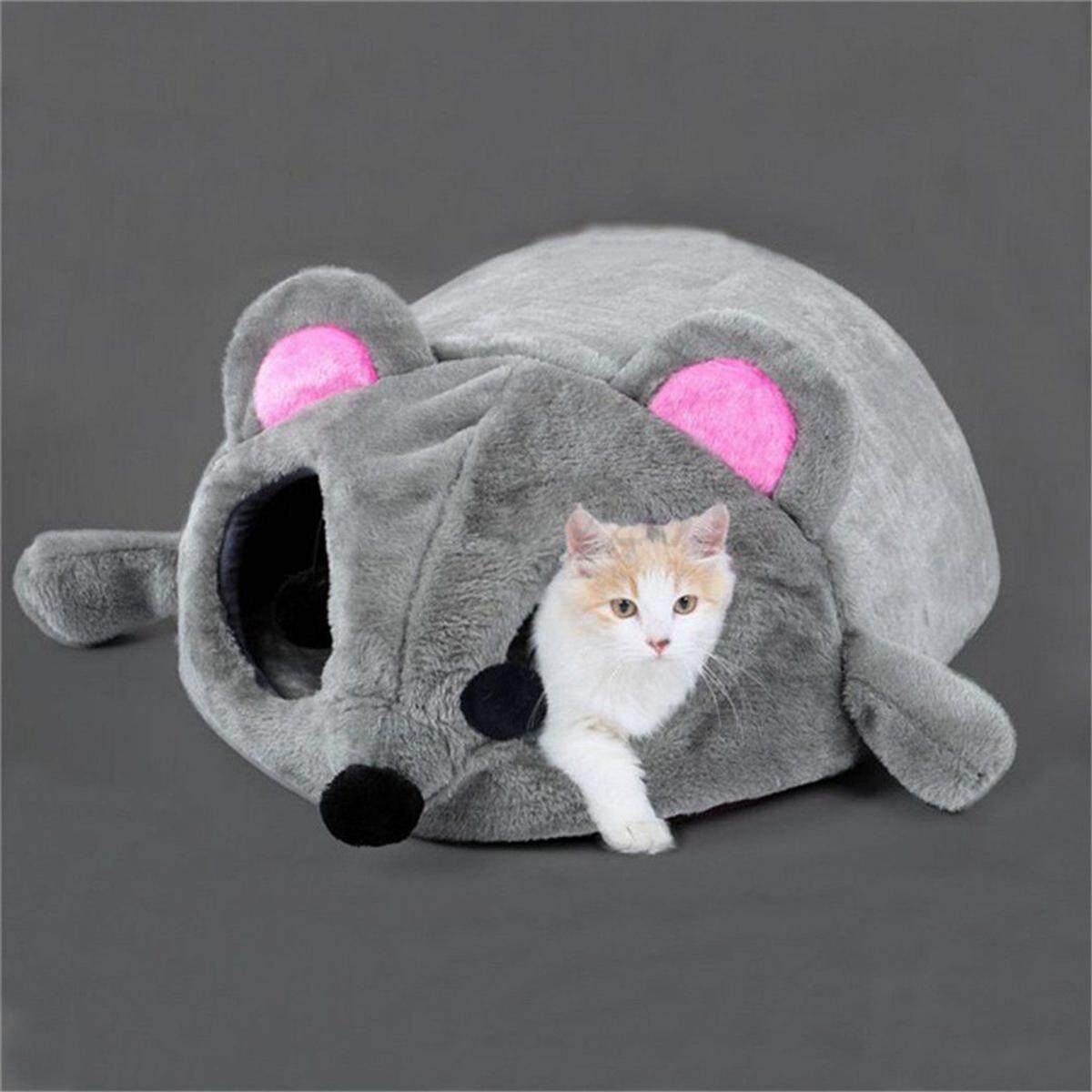 Cartoon Mouse Cat Cave Dog Pet House Cushion Nest Soft Mat Sleeping Bed Igloo By Paidbang.