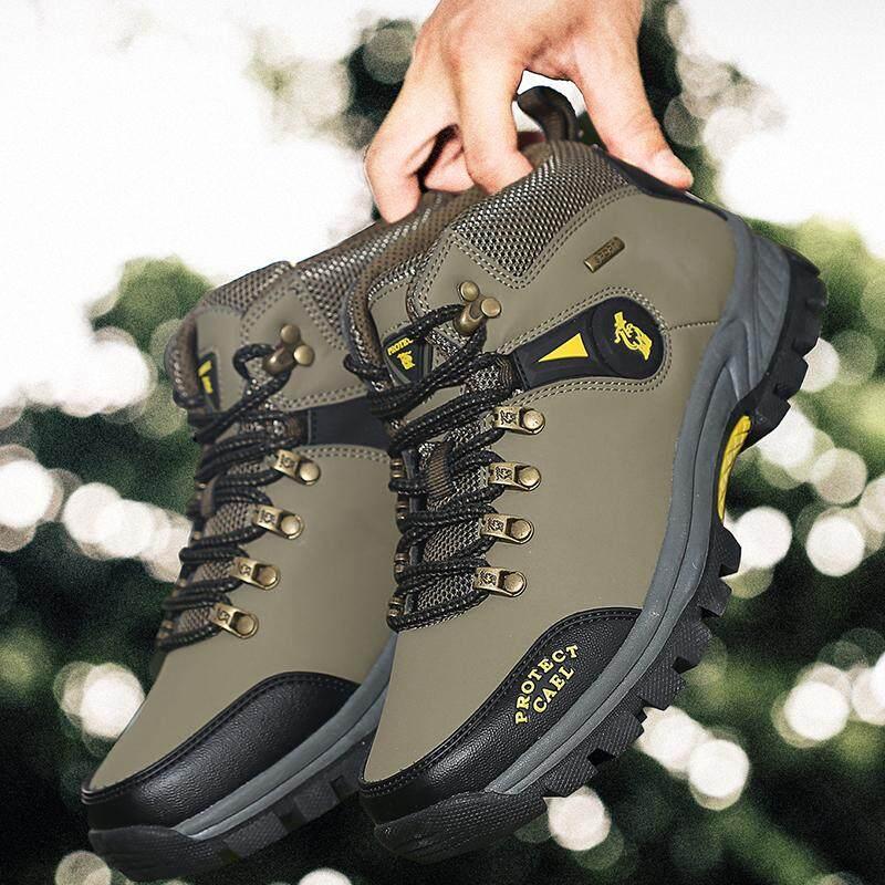 Yealon Pria Luar Ruangan Sneakers Sepatu Pria Sneakers Sepatu Olahraga  Kemah Sepatu Pria Daki Gunung Sepatu df10c1696f