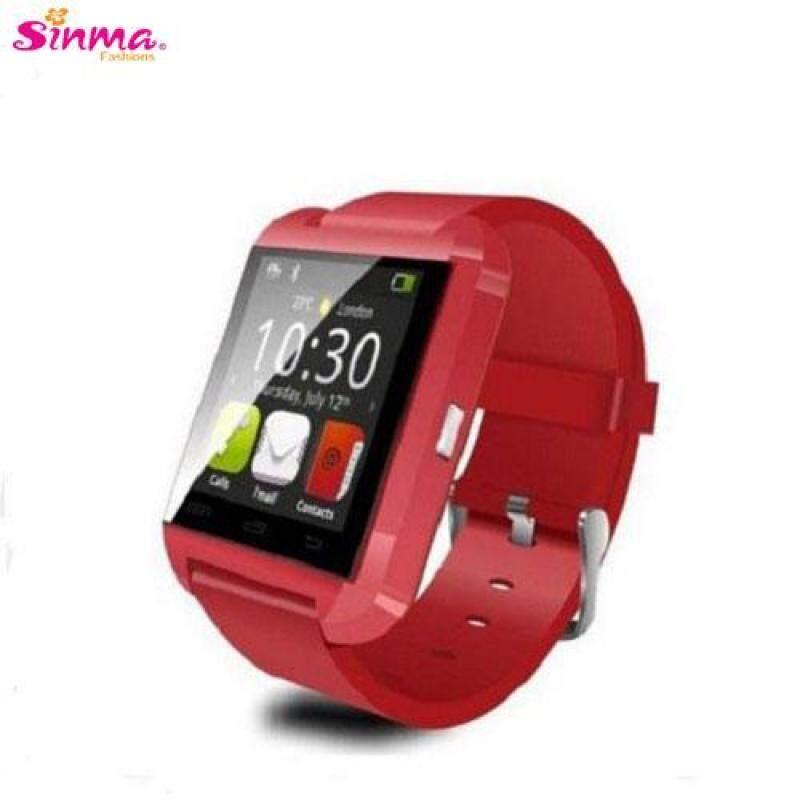 U8 Watch Bluetooth Touch Screen Smart Watch (Red) Malaysia