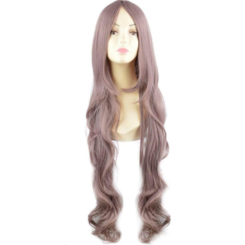 100 Cm Wanita Panjang Keriting Bergelombang Wig Rambut untuk Pesta Topeng  Halloween Natal Kostum Cosplay Anime b58be99fc8