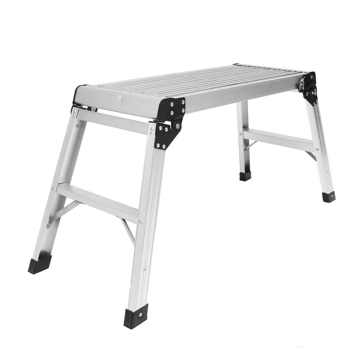 Ladder Work Platform Aluminium Bench Folding Elevated Step Metal Painting Car