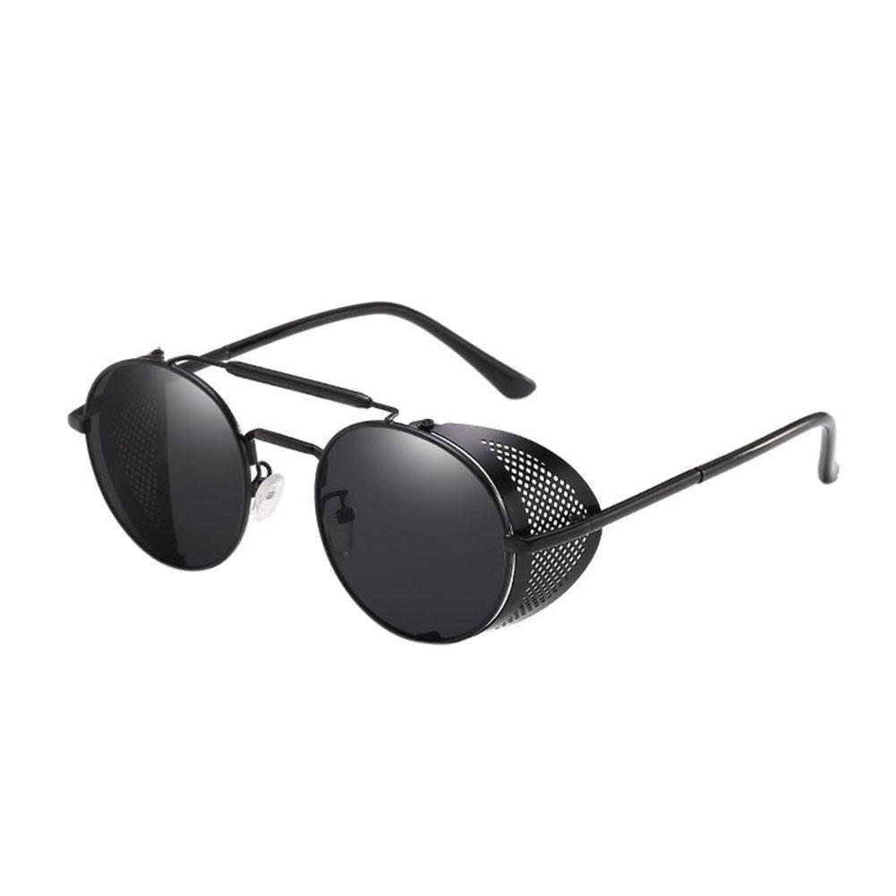 Wanita Steampunk Kaca Mata Kacamata Hitam Retro Warna Lensa: Kotak Hitam Penuh Gray Spesifikasi:
