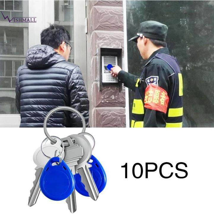 10pcs Rfid Proximity Rewritable Id Door Access Key Tag Fob 125khz/13.56mhz.