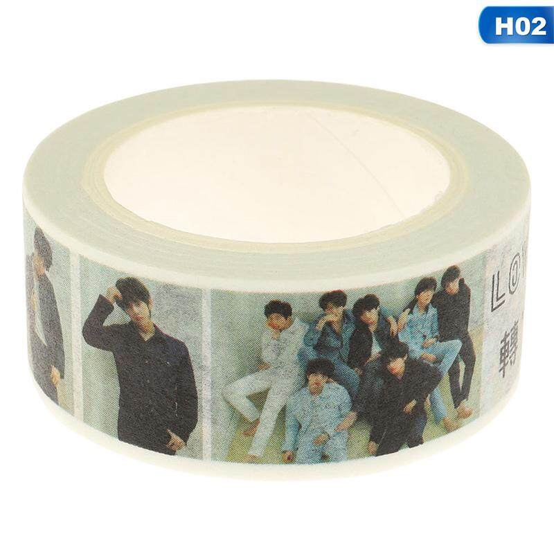 Bzy New Kpop Bts Wanna One Got7 Washi Tape Paper Maksing Diy Scrapbook Stickers H02 By Beautyzy