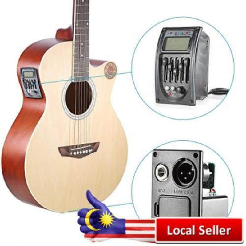 GUITAR DRIVER LC-5 5 BANDS ACOUSTIC GUITAR PREAMP PICKUP EQ PREAMP LCD TUNER PIEZO PICKUP (BLACK) Malaysia