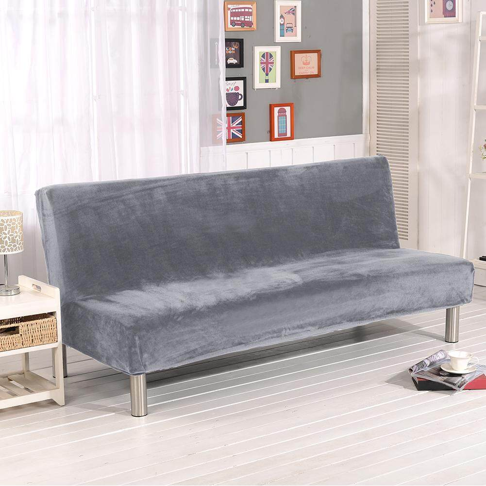 Thicker Plush Sofa Cover Slipcover Full Coverage Folding Sofa Bed Without Armrest