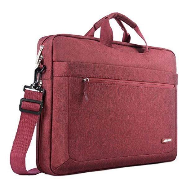 Mosiso Polyester Messenger Laptop Shoulder Bag for 11.6-13.3 Inch MacBook Air, MacBook Pro, Notebook Computer, Protective Briefcase Carrying Case with Adjustable Depth at Bottom, Wine Red - intl