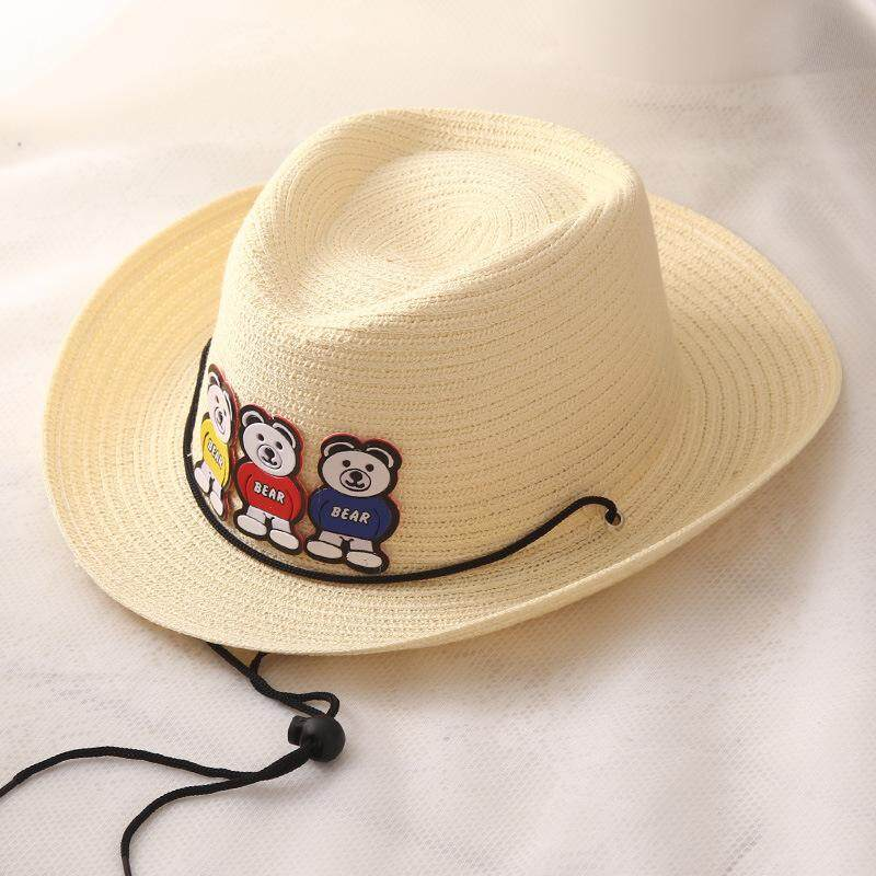 NBS 2018 Children's Hats Men and Women Tong Baobao Sun Hat Little Bear Hat Lovely Sun Hat Outdoor Cowboy Hat