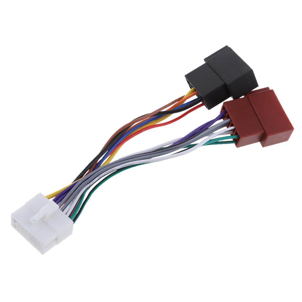 Fitur Miracle Shining For Clarion 16pin Car Stereo Iso Wiring Harness Connector Adaptor Loom Lead 5