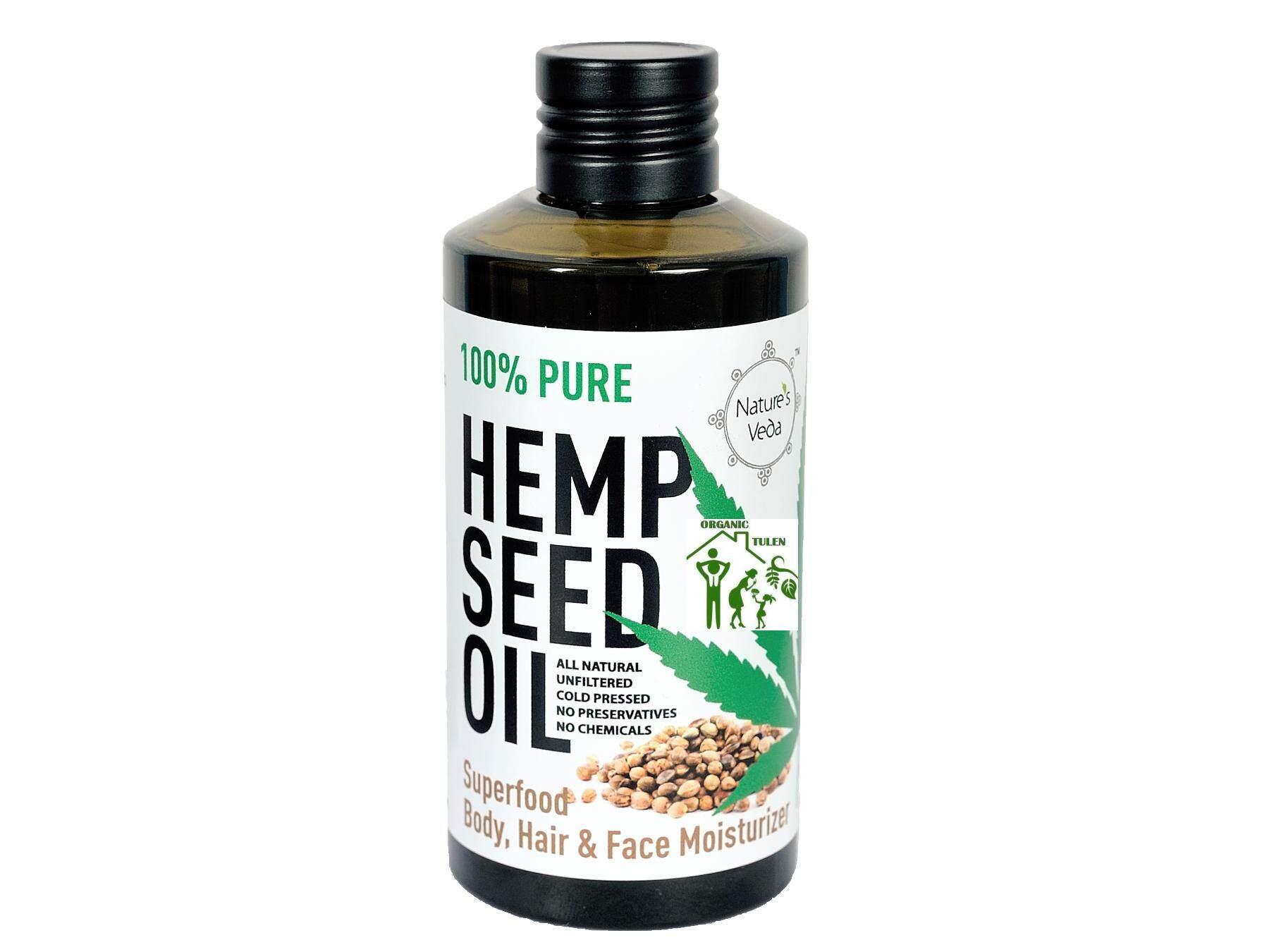Nature s Veda Hempseed Oil 150ml Hair Body & Face Moisturizer