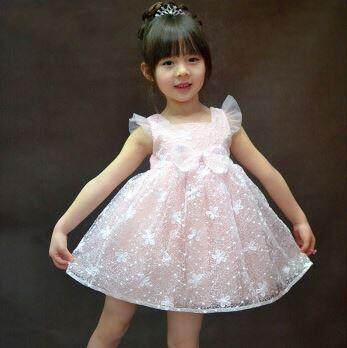 Starry Flying Sleeve Kids Girl Dress