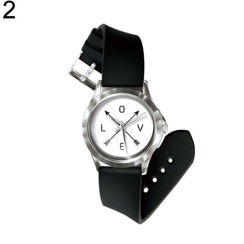 Sanwood® Simple Letter Print Round Dial Analog Quartz Unisex Wrist Watch Birthday Gift (2#) Malaysia