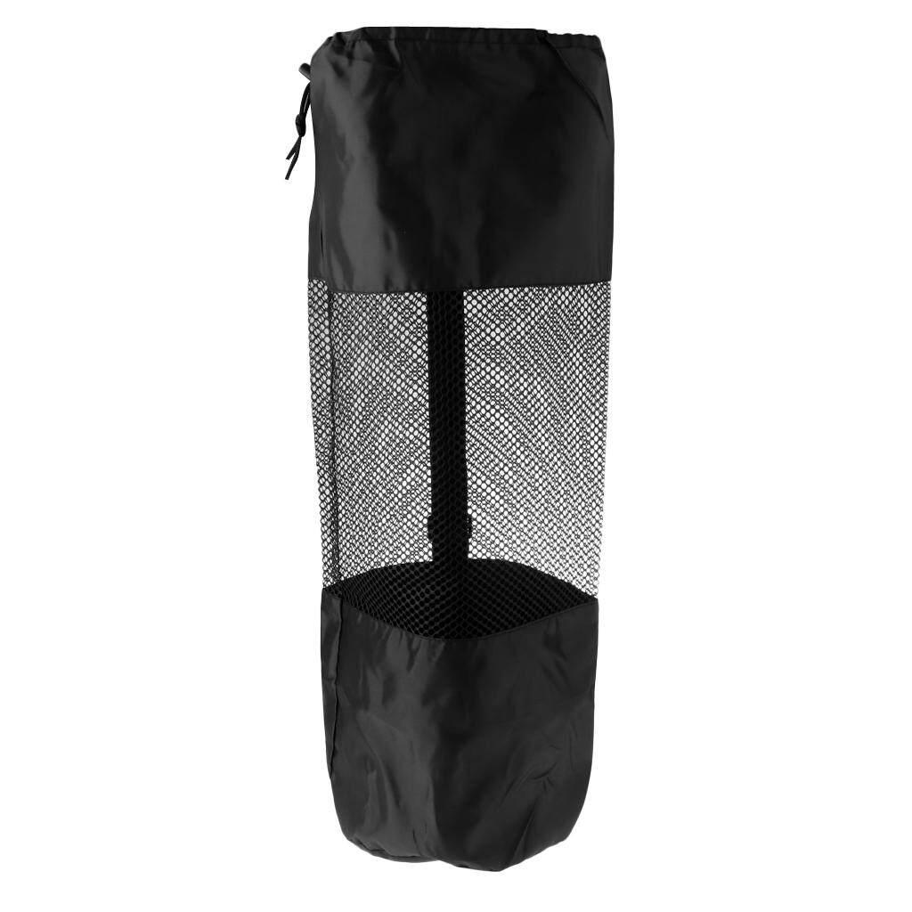 Miracle Shining Portable Yoga Pilates Mat Bag Carrier Mesh Center Adjustable Strap Totes M