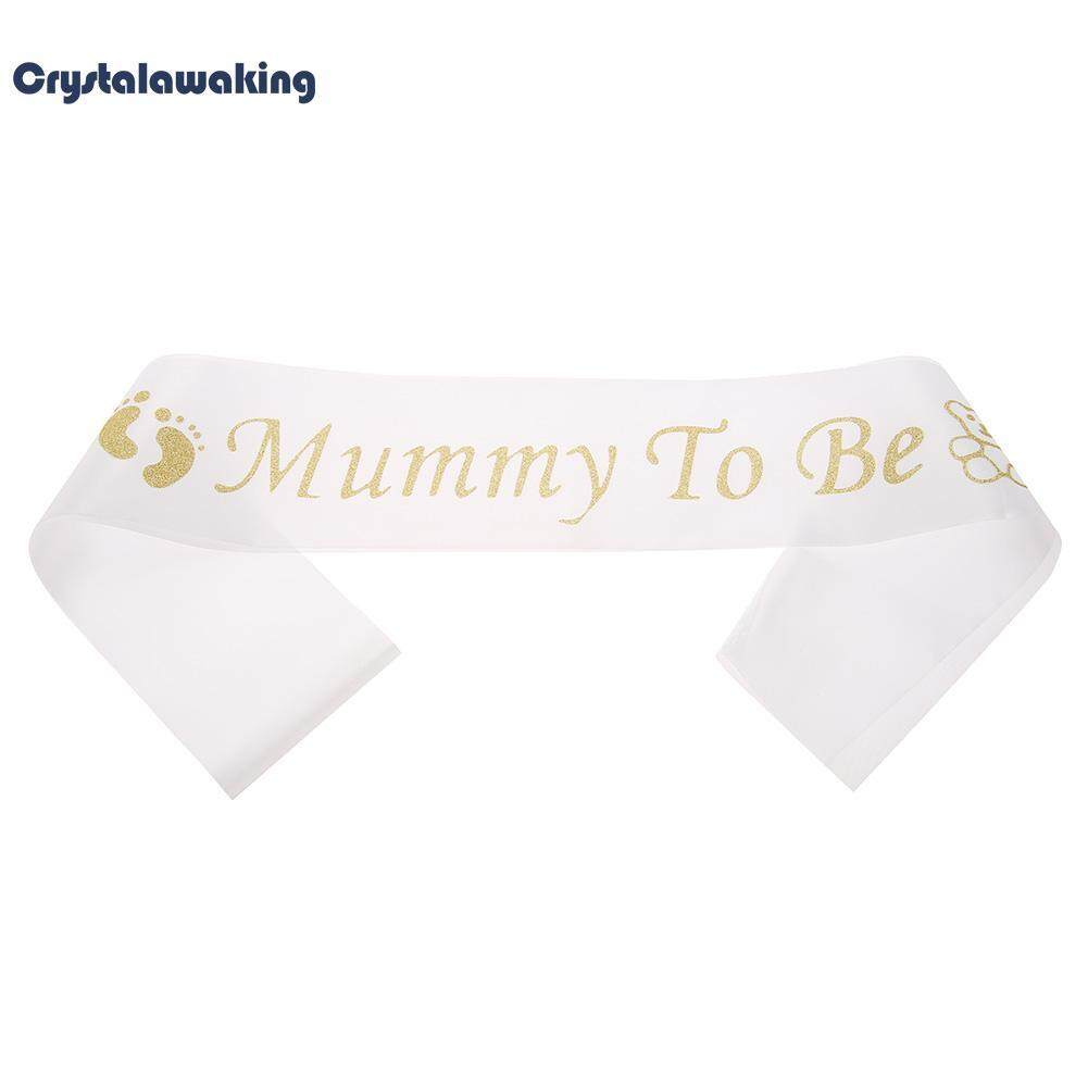 Mummy To Be Satin Ribbon Sashes Glitter Baby Shower Shoulder Strap By Crystalawaking.