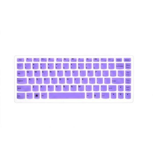 Leze - Ultra Thin Keyboard Skin Cover for Lenovo IdeaPad U310,U400,U410,U430,S400,S415,YOGA 13 14,Yoga 2 13,YOGA 900,YOGA 700 14 Laptop - Purple
