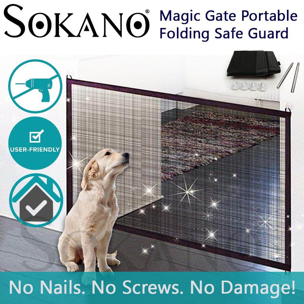 (RAYA 2019) Sokano Magic Gate Portable Folding Safe Guard Install Anywhere (Pet safety)