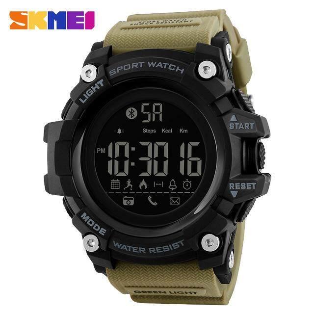 Hình ảnh SKMEI Men's Smart Sports Watches Pedometer Calorie Digital Watch Outdoor Remote Camera Call/APP Reminder Bluetooth Wristwatches 1385