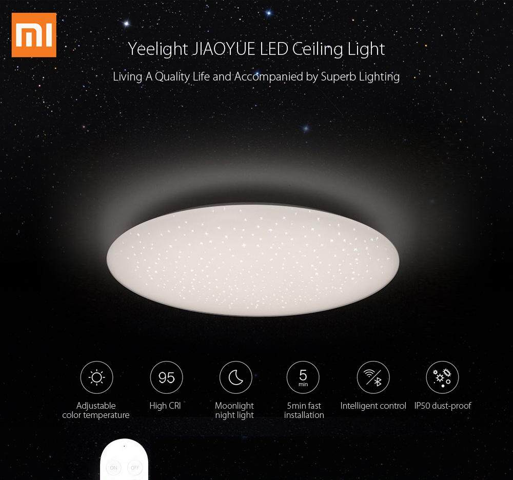 Xiaomi Yeelight JIAOYUE YLXD04YL 450 Smart APP / WiFi / Bluetooth Control LED Ceiling Light 200 - 240V with Remote Controller