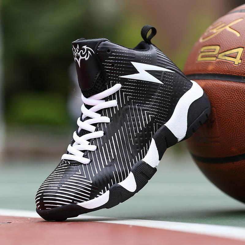 Vikey Anak-anak Sepatu Basket Anak Laki-laki Anak Perempuan Meningkat  Atasan Tinggi Sepatu a65a0f7bbc