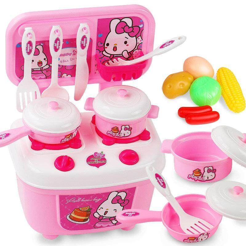 Kitchen Playset Multifunction Cookware Stove Joy Kitchen (pink) By Lee & Lee.