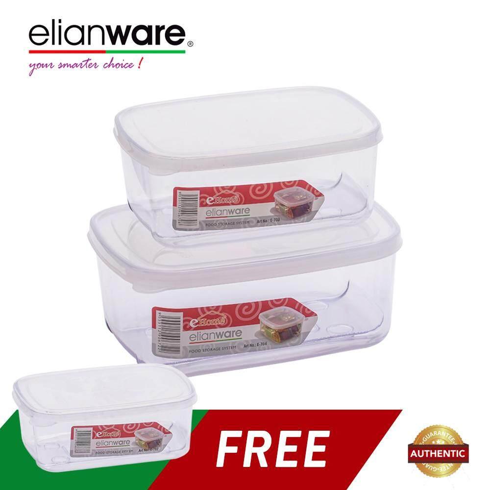 Elianware 3 Pcs Transparent Airtight Food Keeper
