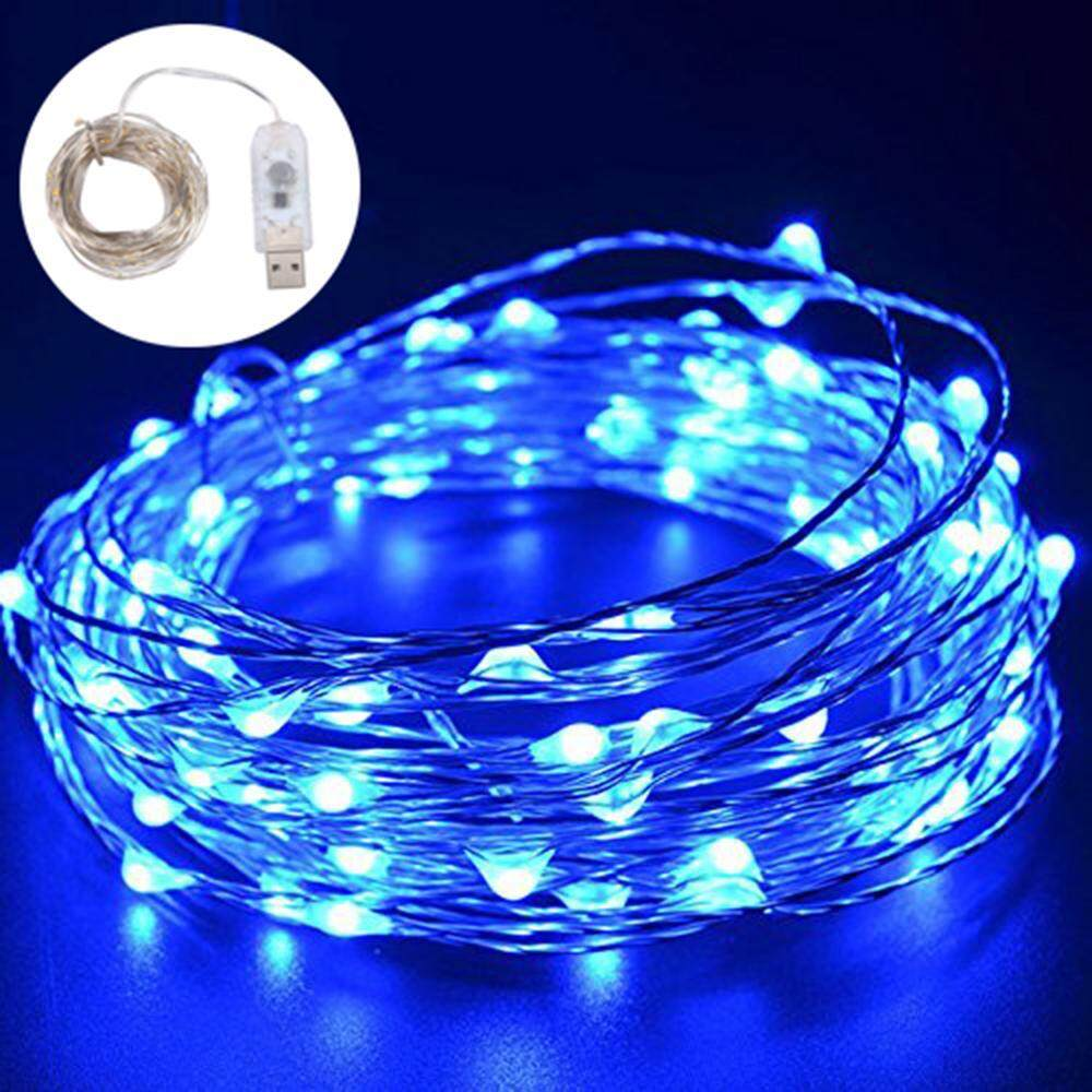 YJJZB LED Fairy String Lights Indoor And Outdoor 10m/ 33ft 100 LEDs Powered Via USB