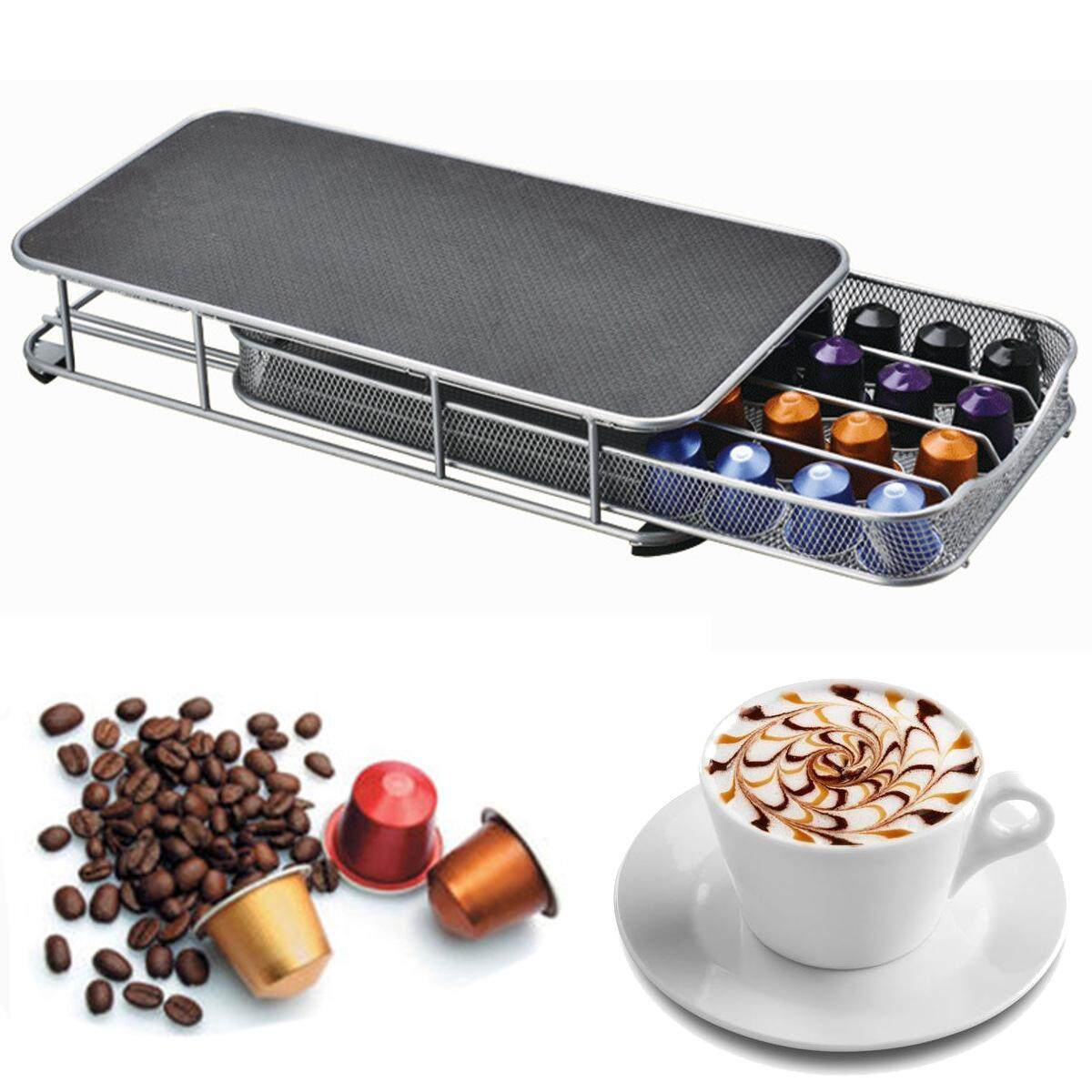 New Stainless Steel Anti Slip Stand 40 Nespresso Coffee Capsule Pod Holder Rack Intl Lowest Price