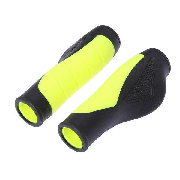Bike Grips Bicycle Handlebar Grips Anti-skid Ergonomic Bike Grips (Yellow)