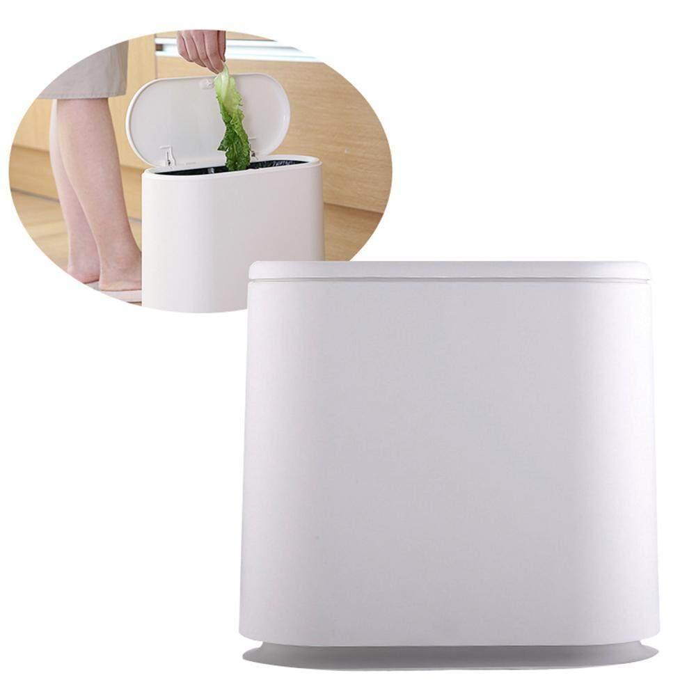 niceEshop Trash Can Plastic Household Pressing Classification Storage Bucket Environmental Protection Narrow Trash Can