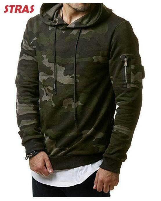 Men's Wear New Fashion Camouflage Hat Men's Casual Cap Sweater Hooides Sweatshirt Clothing