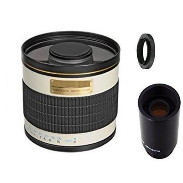 500mm f/6.3 Manual Focus Telephoto Mirror Lens + 2x Teleconverter = 1000mm For Pentax